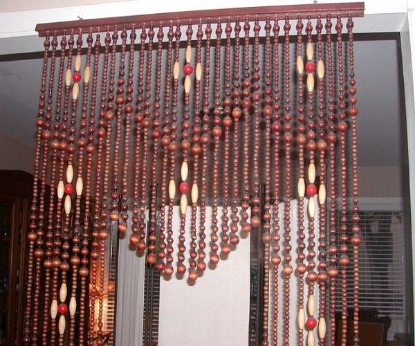 rèm cửa bằng hạt gỗ