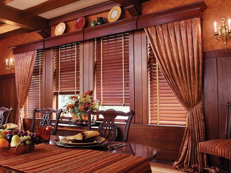 vẻ đẹp truyền thống của rèm gỗ